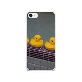 銭湯ヒヨコ Clear smartphone cases