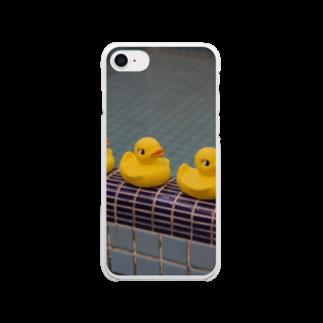 竹下キノの店の銭湯ヒヨコ Clear smartphone cases
