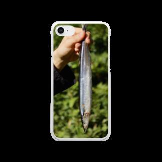 竹下キノの店の持ってきたサンマ Clear smartphone cases