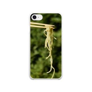 ラーメン食べませんか? Clear smartphone cases