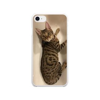 ベンガル猫 Clear smartphone cases