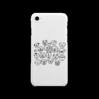 U うーのワン わん WAN! Clear smartphone cases
