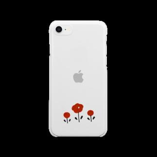 ねごとのほんわかお花 Clear smartphone cases