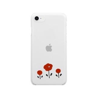 ほんわかお花 Clear smartphone cases