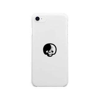 💀陰陽ベイビーがいこつ☯️ Clear smartphone cases