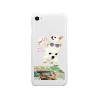 さまーたいむチワワ Clear smartphone cases