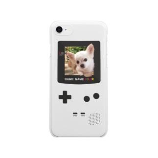 げーむぼーいチワワ Clear smartphone cases