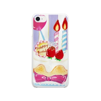 Happybirthday!!! Clear smartphone cases