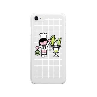 メロンパフェ職人 Clear smartphone cases