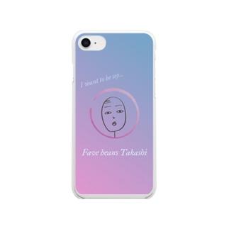 空豆タカシのスマホケース Clear smartphone cases