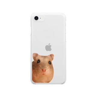 ひょっこりハムスター Clear smartphone cases