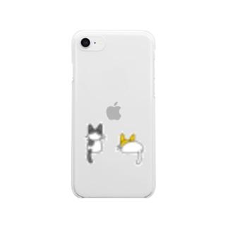ネコちゃん Clear smartphone cases