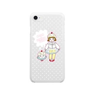 みるくいちごガール Clear smartphone cases