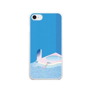 プラスチック・プールサイド Clear smartphone cases
