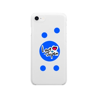 Love Japan水玉バージョン Clear smartphone cases