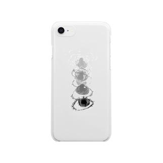 おめめちゃん Clear smartphone cases