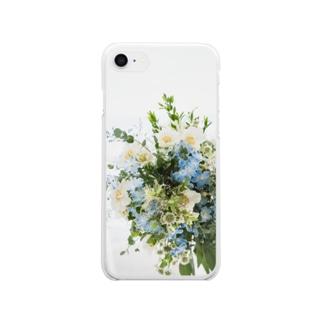 草花のブーケ💐 スマホケース Clear smartphone cases