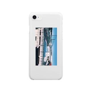 隣のプール Clear smartphone cases