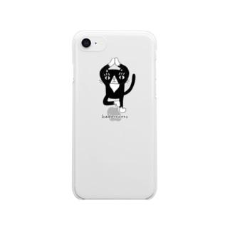 立ち木のポーズ iPhoneケース Clear smartphone cases