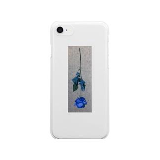 コンクリートと薔薇 Clear smartphone cases