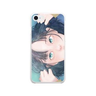 すっぴん Clear smartphone cases