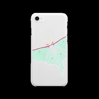 DOTEKKOの大きなオオミズアオ Clear smartphone cases