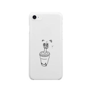 かわいいたぴおか Clear smartphone cases