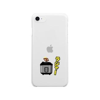 チュン坊と電子ジャー Clear smartphone cases