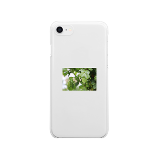 ソフトクリーム屋さんの水も滴るいい葉っぱ Clear smartphone cases