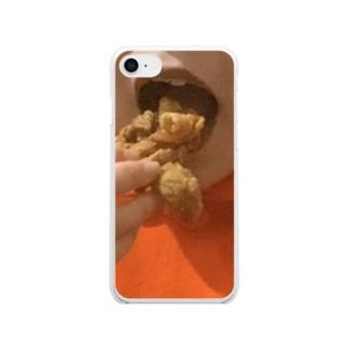 ぱくっとちきん🍗 Clear smartphone cases