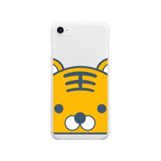 とらちゃん Clear smartphone cases