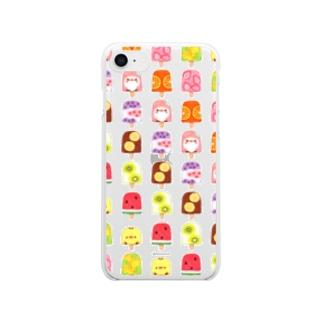 ひんやりアイスキャンディーとことり Clear smartphone cases