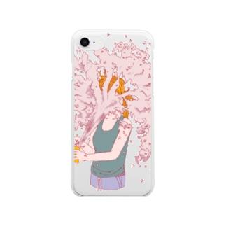 urupeiのおみせのurupei iPhoneクリアケース [sakura] Clear smartphone cases