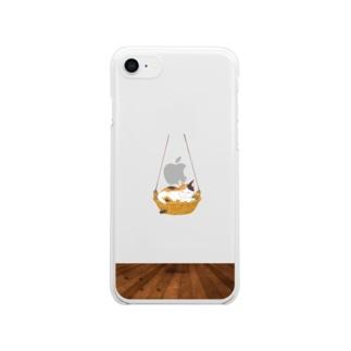 ニャンモックスマホケース(iPhone8) Clear smartphone cases