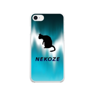 NEKOZEサイケ Clear Smartphone Case