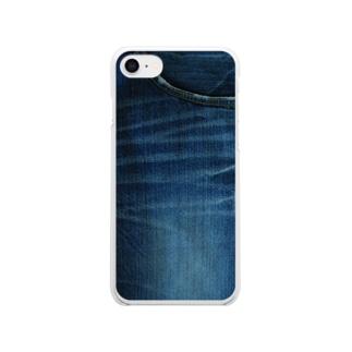デニムからのデニム Clear smartphone cases