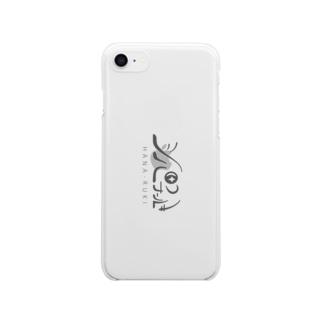 はなーるきロゴ縦向き Clear smartphone cases