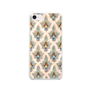 モロッカンタイル【カサブランカ】 Clear smartphone cases