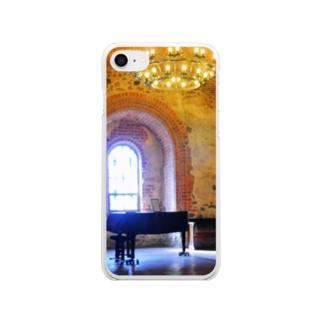孤独のピアノ【トラカイ城】 Clear smartphone cases