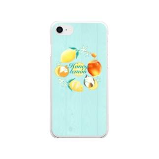 ねことはちみつレモン Clear smartphone cases