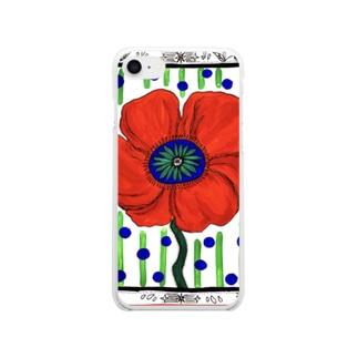 ポピー ドット Clear smartphone cases