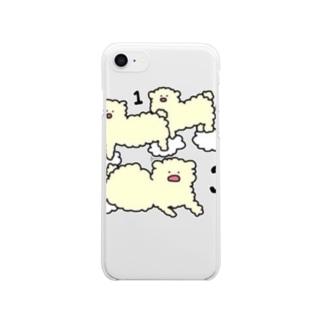 ひつじ雲 Clear smartphone cases