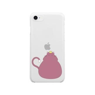 猫は王様 Clear smartphone cases