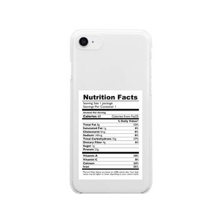 栄養表示(英語版) Clear smartphone cases