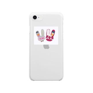♡キラキラウサタン♡ Clear smartphone cases