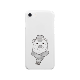 polar bear Clear smartphone cases