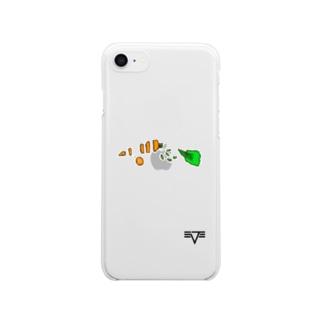 病んでるうさぎちゃんのニンジン🥕 Clear smartphone cases