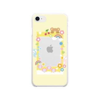 推しをかわいく持ち歩こ♡ Clear smartphone cases