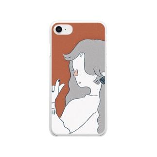ワンワン Clear smartphone cases
