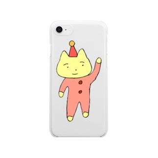 サーカスネコ Clear smartphone cases